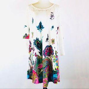 Reborn boho floral paisley dress